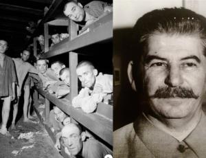 Due celebri scatti di Margaret Bourke-White: il campo di concentramento di Buchenwald e Stalin