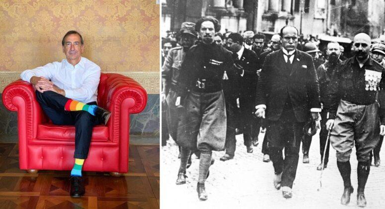 Beppe Sala e Mussolini